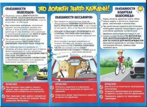 Обязанности пешехода